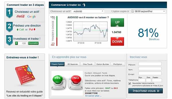 Site option binaire depot minimum 10 euros
