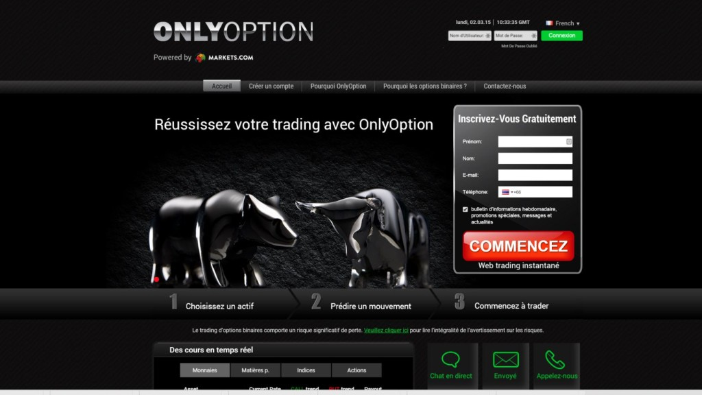 OnlyOption plateforme