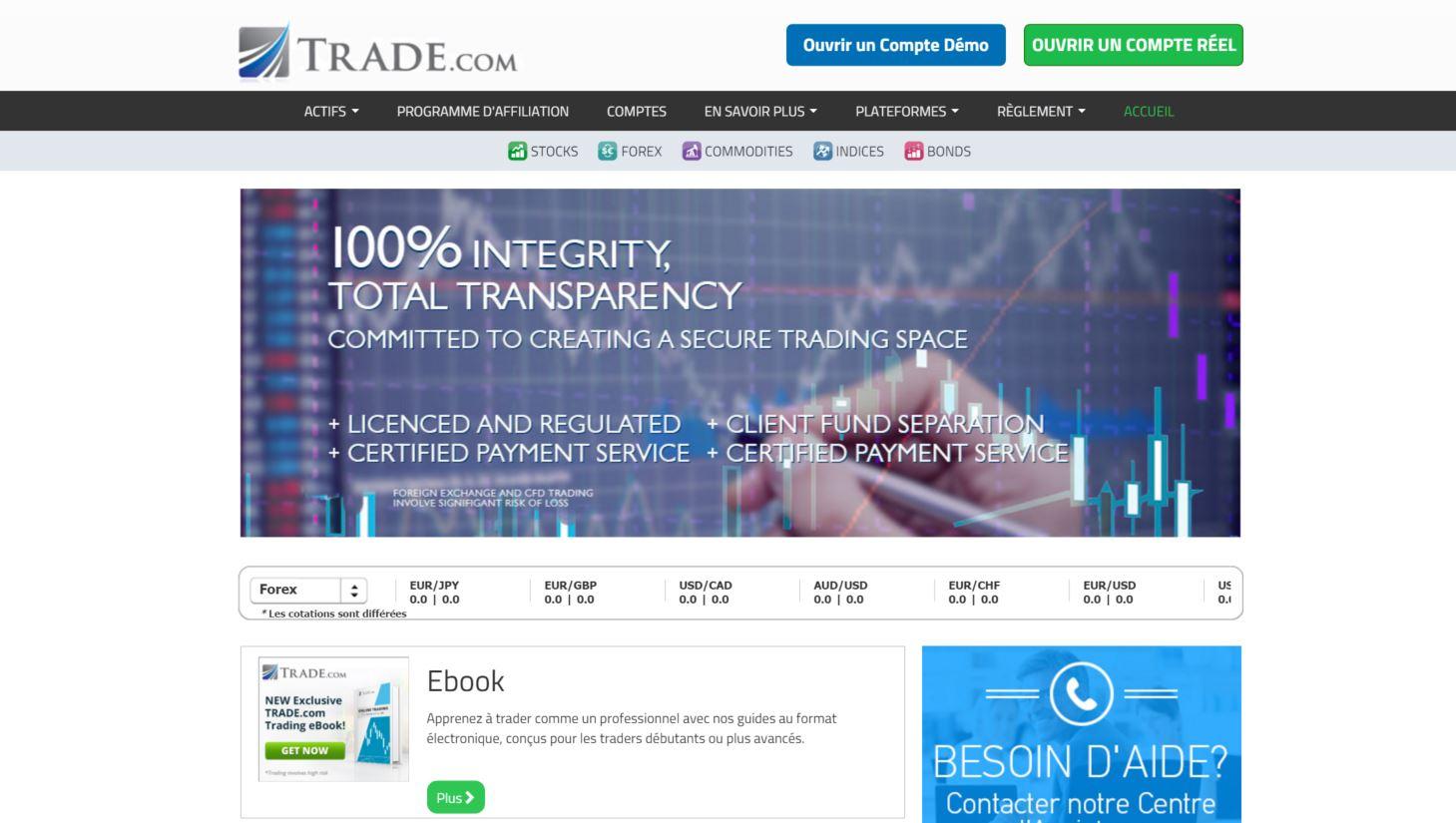 trade.com accueil